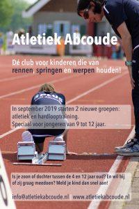 Poster met oproep specifiek voor kinderen van 9 tot 12 jaar.